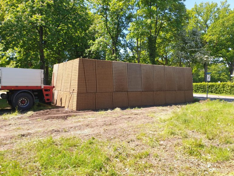 Nachhaltige Lärmschutzwände in Westerbork . installiert